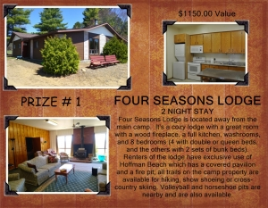 <b>Prize 1</b><br />Two nights at Four Seasons Lodge (value $1,150)