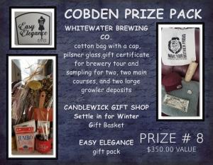 <b>Prize 8</b><br />COBDEN Prize Pack (value $350)