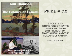 <b>Prize 12</b><br />Two tickets to Stone Fence Theatre Dinner & Show (value $120)