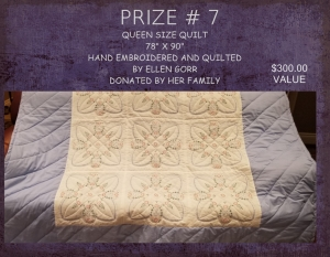 <b>Prize 7</b><br />Queen Sized Quilt (value $300)