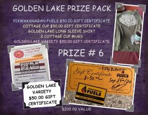 <b>Prize 6</b><br />Golden Lake Prize Pack (value $200)