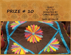 <b>Prize 10</b><br />Double Quilt (value $400)